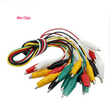 10pcs Alligator Clips Electrical DIY Test Leads Alligator Double-ended with wire
