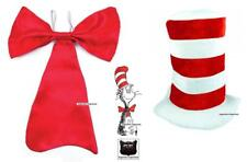 Book Week Day Fancy Dress Giant Red Bow Tie & Hat Set Cat In The Hat Set ADULTS