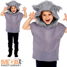 Wolf Kid Fancy Dress Wild Big Bad Animal Fairy Tale Story Book Day Child Costume