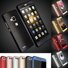 Huawei P9 P10 Lite Hybrid 360° Hard Ultra Thin Case + Tempered Glass Cover