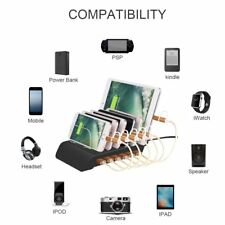 6 Port 10.2A USB Charger Charging Station Hub For iPhone X 8 7 Plus iPad Samsung