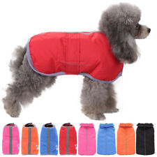 Pet Dog Puppy Reflective Safe Clothes Jacket Warm Coat Winter Casual Reversible