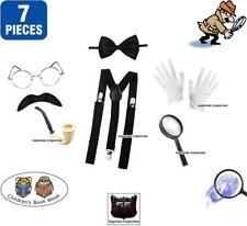 Detective 7pc Fancy Dress Book Week Day Inspector Clouseau Pink Panther ADULTS