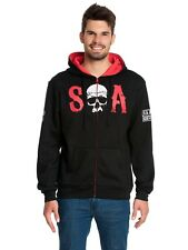Sons of Anarchy Red Hooded Zip-Jacket Herren Kapuzenjacke