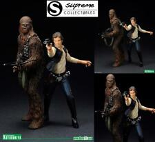 A NEW HOPE STAR WARS ARTFX+ 1/10 HAN SOLO & CHEWBACCA STATUE FIGURE 2 PACK SW88
