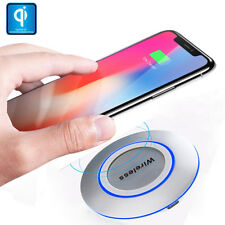 LED 10W Fast Charger PAD Qi Wireless Charger Pad Dock for iPhoneX 8Plus S8 S9 S7