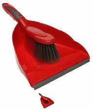 MODA Stanford Home Dustpan And Brush Set Red