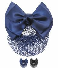 SPORTIVO  Requisite Bow Hairnet Navy