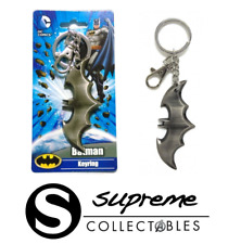 Official DC Comics Batman Logo Pewter Keyring Keychain New Gotham City Retro