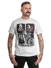 The Walking Dead Factions Four Characters Camiseta Hombre Gris Jaspeado