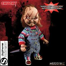 """MEZCO CHILDS PLAY 15"""" TALKING CHUCKY GOOD GUY WITH SCARS ACTION FIGURE W/SOUND"""