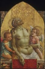 Dead Christ Supported Two Angels Carlo Crivelli Italian Active Venice Marches Fi