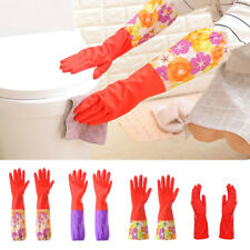 Cleaning Household Kitchen Glove Long Gloves Rubber Latex Dish Washing R0219