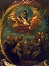 A4+ Size Print Appearence St Francis To Monks His Order #jwnh121-1218