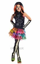 Kids Monster High Skelita Calaveras Girls Halloween Fancy Dress Costume Outfit