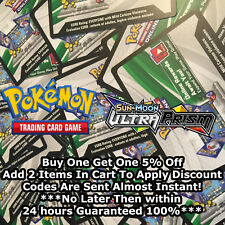 50 Sun And Moon Ultra Prism Codes Pokemon TCG Online Booster Sent Almost Instant