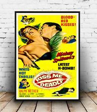 Kiss me deadly (two) , Vintage  movie advert Reproduction poster, Wall art.