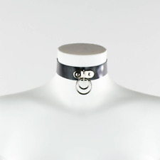 - Latex Double O Ring Collar - Handmade in the UK - goth rubber gummi punk