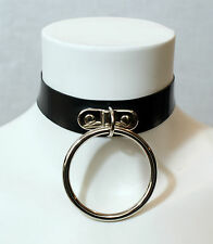 - Latex Large O Ring Collar - Handmade in the UK - goth rubber gummi punk