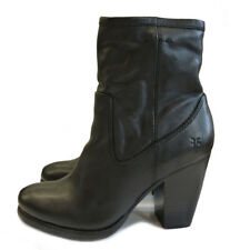 Frye Company Patty Black Leather Ankle Boot High Heel Size 39.5 & 40 ONLY