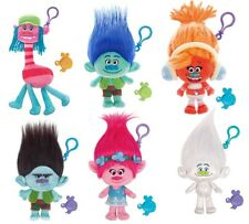 New TROLLS Mega Keychain Plush Soft Toy Branch Cooper Poppy Guy Diamond Grumpy