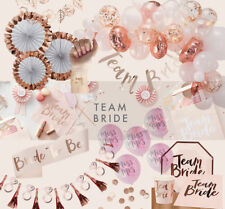 PINK & ROSE GOLD FLORAL TEAM BRIDE TO BE HEN PARTY ACCESSORIES SASHES BALLOONS
