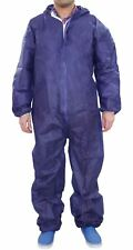 Unisex Women Men Overall Coverall Boilersuit Hood Disposable Protective Suit