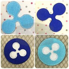 Ripple Cryptocurrency new logo Iron/sew on Embroidered Patch UK Seller