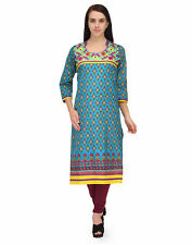Stylish BPT kurtis - Trendy Cotton Style Embroidered Multi Color Long Kurtis