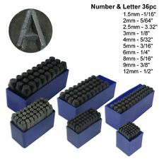 36pc Number & Letter Punch Set Alpha Numeric Carbon Steel Punches Craft