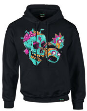 RICK AND MORTY ' Eyeball Skull' Pullover Hoodie - Nuevo y Oficial