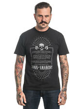 SONS OF ANARCHY Anarchist Rules Camiseta Hombre Negro