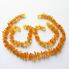 Baltic natural amber necklace or/and bracelet anklet baby to children, honey