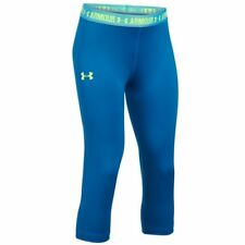 Under Armour Girls' UA HeatGear Armour Solid Capri - Mediterranean