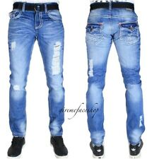 Peviani G Jeans, HIP HOP Rip Time Is Money uomo denim stelle DRITTO slim skinny