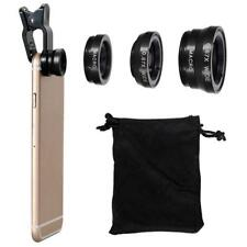 Universal 3 in 1 Fish Eye Wide Angle Macro Camera Clip-on Lens Set for Phone