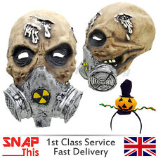 TOSSICO MASCHERA DI ZOMBIE COSPLAY FACCIA lattice horror adulto Halloween Party