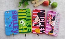 CUBIERTA DE LA CAJA CASE silicone mickey minnie sulley 3D IPHONE 5 5S 6 6S + 2