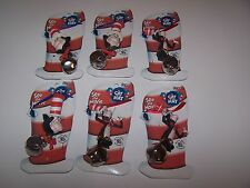 LOT OF 6 DR SEUSS CAT IN THE HAT THE MOVIE BELL NECKLACES  Figure Resin