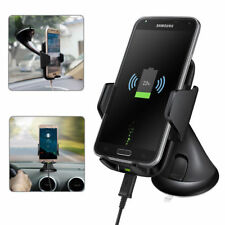 Qi Wireless Fast Charger Car Dashboard Holder Mount Fo iPhone 8 X Samsung S8 S8+
