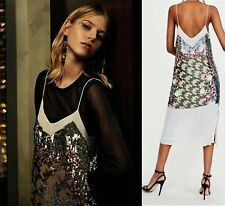 ZARA LIMITED EDITION SEQUINNED STRAPPY DRESS SIZE S 8 UK 36 EU 4 US