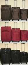 4Wheel Suitcase Lightweight Soft Case Expandable Luggage Trolley Cabin Bag 3COLS