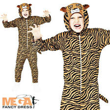 Jungle Tiger Kids Fancy Dress Zoo Animal Book Week Girls Boys Childrens Costume