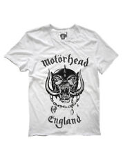 Motorhead 'ENGLAND' T-SHIRT (White) - Amplified Clothing - NUOVO E ORIGINALE