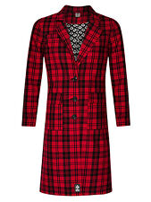 SEEK & DESTROY RED QUADRETTATO OVERSIZE GIACCA TRENCH donne cappotto rosso