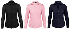 Mujer businessbluse Stretch Blusa 36 38 40 42 44 46 Blusas camisa camisa mujeres