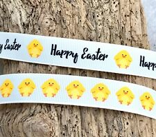 Happy Easter Ribbon - Easter Chicks Trim - Easter Crafts - Easter Gift Wrap