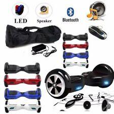 "HOVERBOARD 6.5"" LUCI LED E BLUETOOTH SPEAKER SCOOTER OVERBOARD VARI COLORI DHL@R"