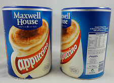 MAXWELL HOUSE INSTANT CAPPUCCINO 750g x 2 or 1 Tin Coffee Bulk Buy