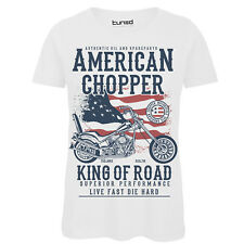 T-Shirt Divertente Donna Maglia Con Stampa Vintage Moto King Of The Road Tuned